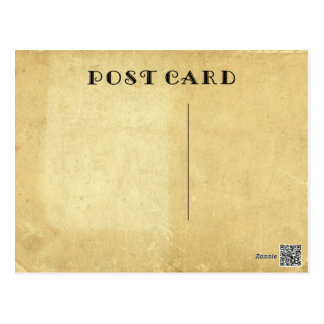 Blank Rustic Antique Aged Stained Parchment Paper ポストカード