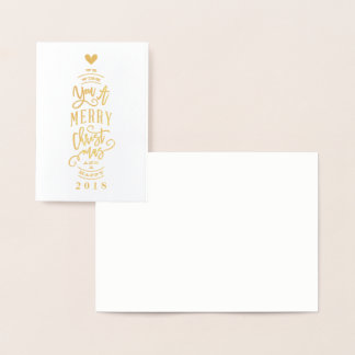 Blank wish you merry christmas foil greeting card 箔カード