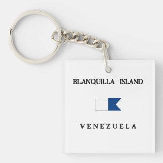 Blanquillaの島のベネズエラのアルファ飛び込みの旗 キーホルダー