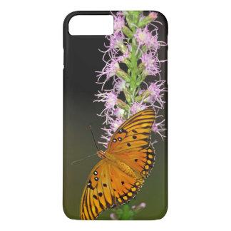 Blazingstarの花の湾のFritillaryの蝶 iPhone 8 Plus/7 Plusケース