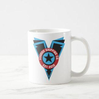 Blck及び青いロゴ コーヒーマグカップ