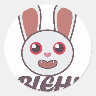 Blehのウサギ ラウンドシール