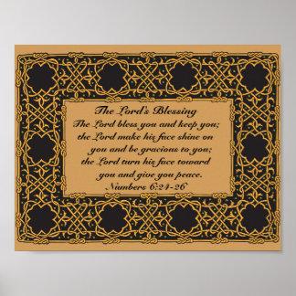 Blessの数6:24、ケルト族のデザイン主 ポスター