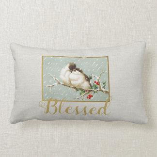 Blessed Winter Vintage Snow Birds ランバークッション