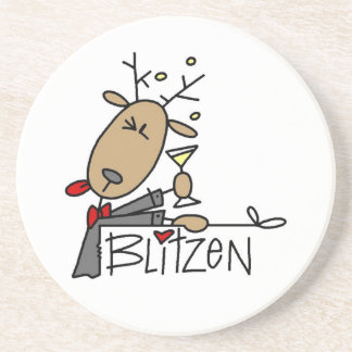 BlitzenのトナカイのクリスマスのTシャツおよびギフト コースター