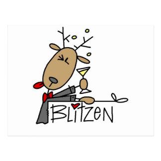 BlitzenのトナカイのTシャツおよびギフト ポストカード