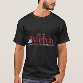 BlkのワイシャツHのコーヒー魔法使い Tシャツ