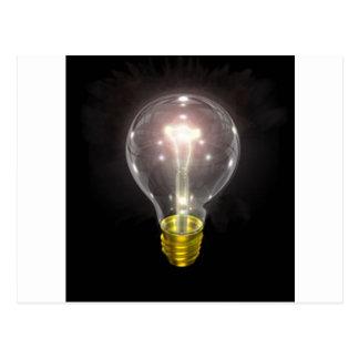 blkの電球3インチの火炎信号 ポストカード