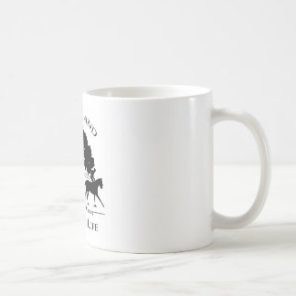 Blk及び白いMerryland及びカントリーライフのロゴと襲って下さい コーヒーマグカップ