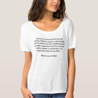 BLMの文脈の女性のだらしないボーイフレンドのTシャツ Tシャツ