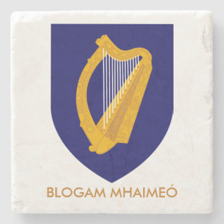 Blogam Mhaimeó: アイルランドの祖母のCuppa Cláirseach ストーンコースター