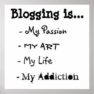 Bloggingはあります… ポスター
