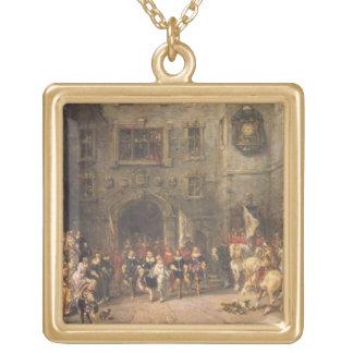 Bloisの館のルイXIII、1874年(cの油 ゴールドプレートネックレス
