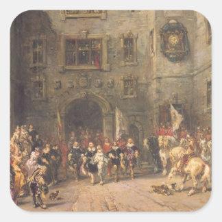 Bloisの館のルイXIII、1874年(cの油 スクエアシール