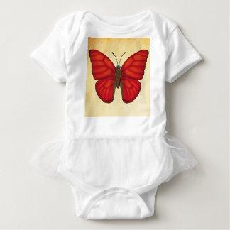 Blood Redグライダーの蝶 ベビーボディスーツ