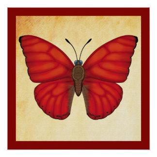 Blood Redグライダーの蝶 ポスター