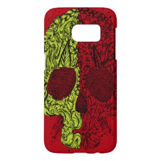Blood Redゴシック様式のかび臭いスカル Samsung Galaxy S7 ケース