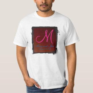 Blood Red 3dモノグラムの地球調子 Tシャツ