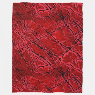 BLOOD RED ROYALE (抽象美術のデザイン)の~ フリースブランケット