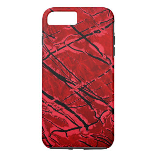 BLOOD RED ROYALE (抽象美術のデザイン)の~ iPhone 8 PLUS/7 PLUSケース