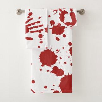 Blood Soaked Spatter Bloody Hand Print Halloween バスタオルセット