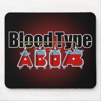 Blood type All マウスパッド