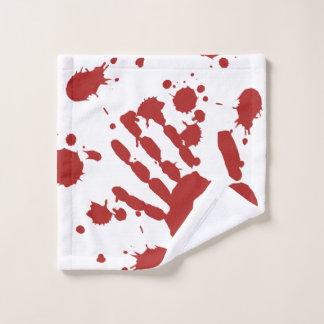 Bloody Hand Print Spatter Halloween ウォッシュタオル