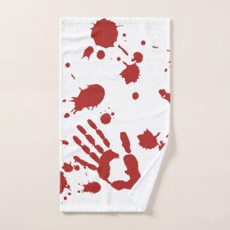 Bloody Hand Print Spatter Halloween ハンドタオル