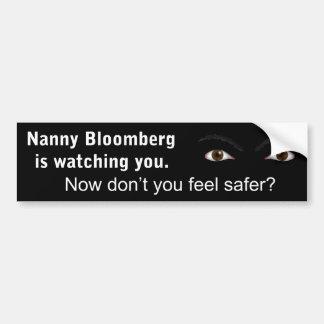 Bloomberg乳母は見ています バンパーステッカー