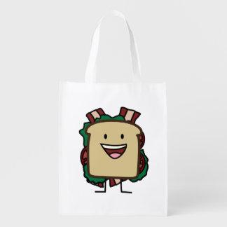 BLTサンドイッチベーコンのレタスおよびトマトの食糧デザイン エコバッグ