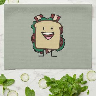BLTサンドイッチベーコンのレタスおよびトマトの食糧デザイン キッチンタオル
