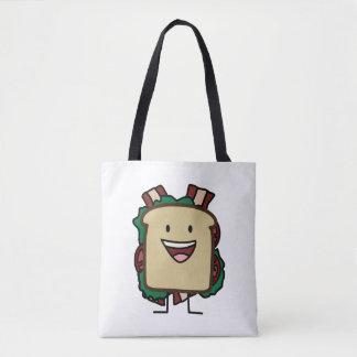 BLTサンドイッチベーコンのレタスおよびトマトの食糧デザイン トートバッグ