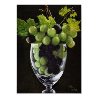 Blue and Green Grapes ポスター