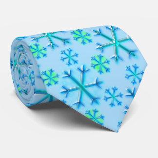 Blue and White Snowflake Hexagon Pattern オリジナルタイ