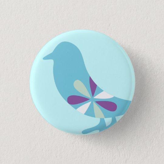 BLUE BIRD 3.2CM 丸型バッジ
