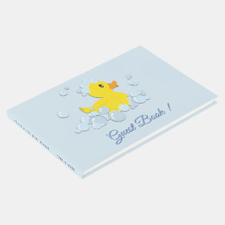 Blue Bubble Bath Baby Shower Guest Book ゲストブック