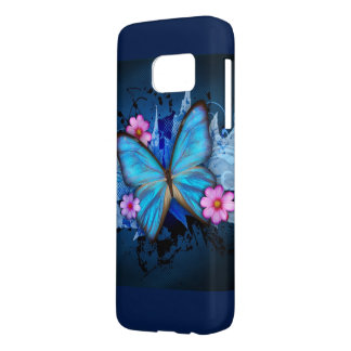 Blue Butterfly Samsung Galaxy S7 ケース
