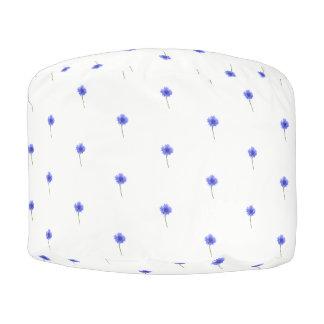 blue cornflower プーフ
