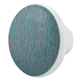 Blue Delicate Ornamental Hilly Forest Relief セラミックノブ