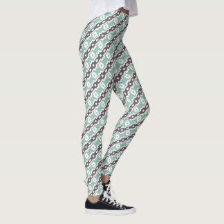 Blue Geometric Pattern Leggings レギンス