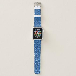 Blue Glitter Design Apple Watchバンド