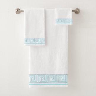Blue Grecian Frieze Design バスタオルセット