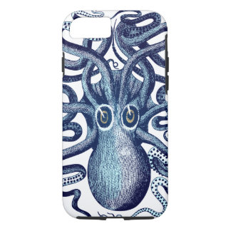 Blue Octopus Sea Monster iPhone 8/7ケース