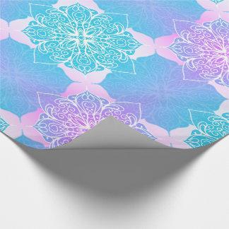 Blue & Pink Mandala Pattern ラッピングペーパー