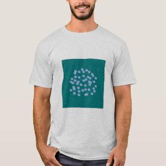 Blue Polka Dots Men's Basic T-Shirt Tシャツ