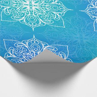 Blue Underwater Mandala Pattern ラッピングペーパー