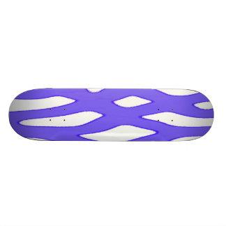 Blue white fantasy pattern 18.4cm ミニスケートボードデッキ