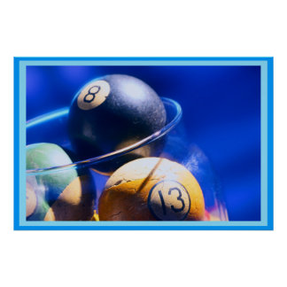 Blueballのビリヤードの芸術 ポスター