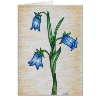 Bluebellの花カード カード