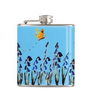 Bluebellsの蝶花柄の芸術 フラスク